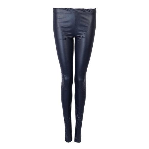 Longlady Legging Lara Leather Blauw