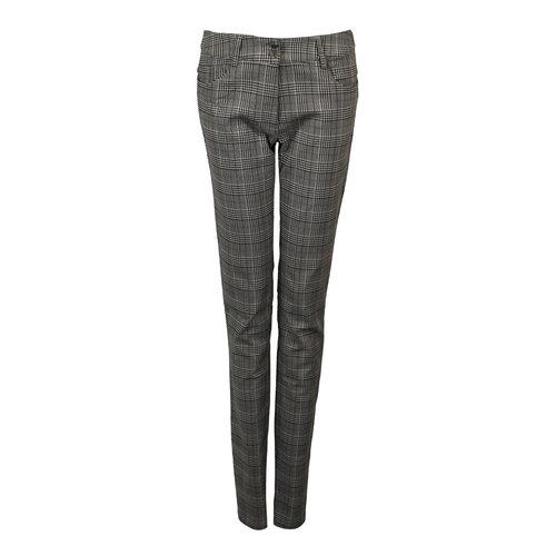 Longlady LongLady Trousers Nathalia Check Brown