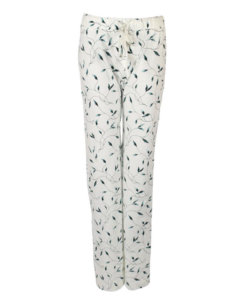 Longlady Pyjamabroek Paulien Offwhite veer