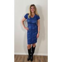 Longlady Jurk Anka Blauw melange