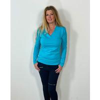 Longlady Shirt Taylor Aqua