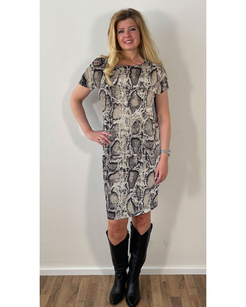 Longlady Dress Eef Snake