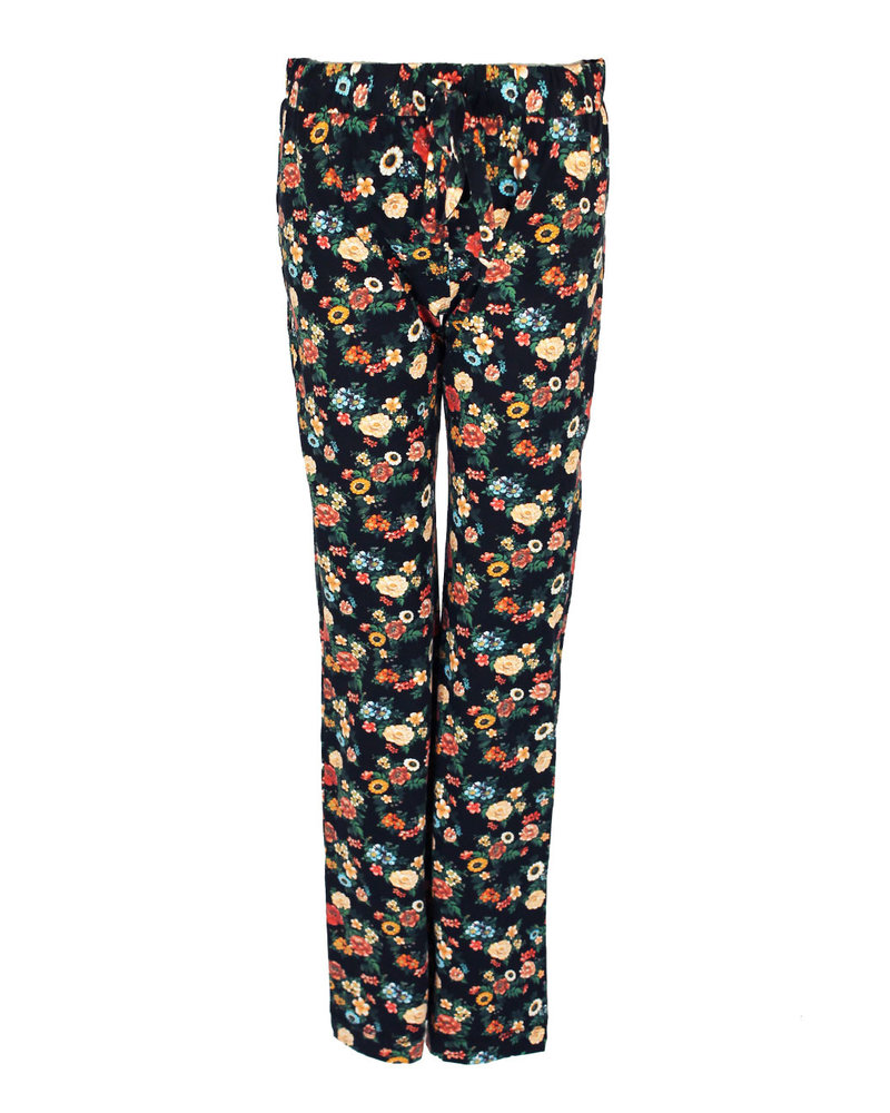 Longlady Pyjamabroek Paulien Zwart Bloem