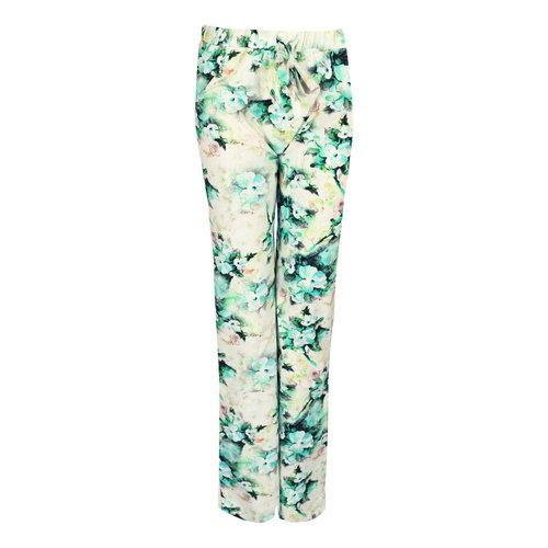Longlady Longlady Pajama pants Paulien Petrol Flower