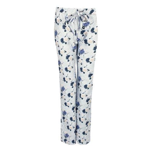 Longlady Longlady Pajama pants Paulien Lightblue Flower