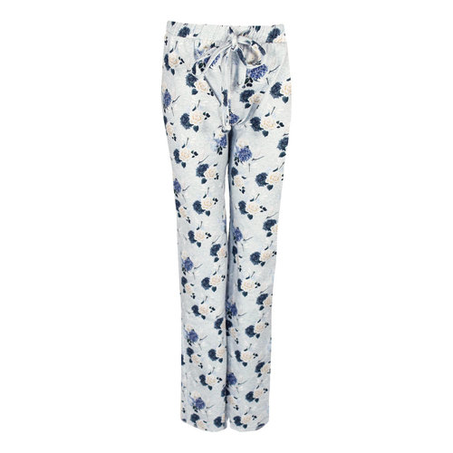 Longlady Longlady Pyjamabroek Paulien Lichtblauw Bloem