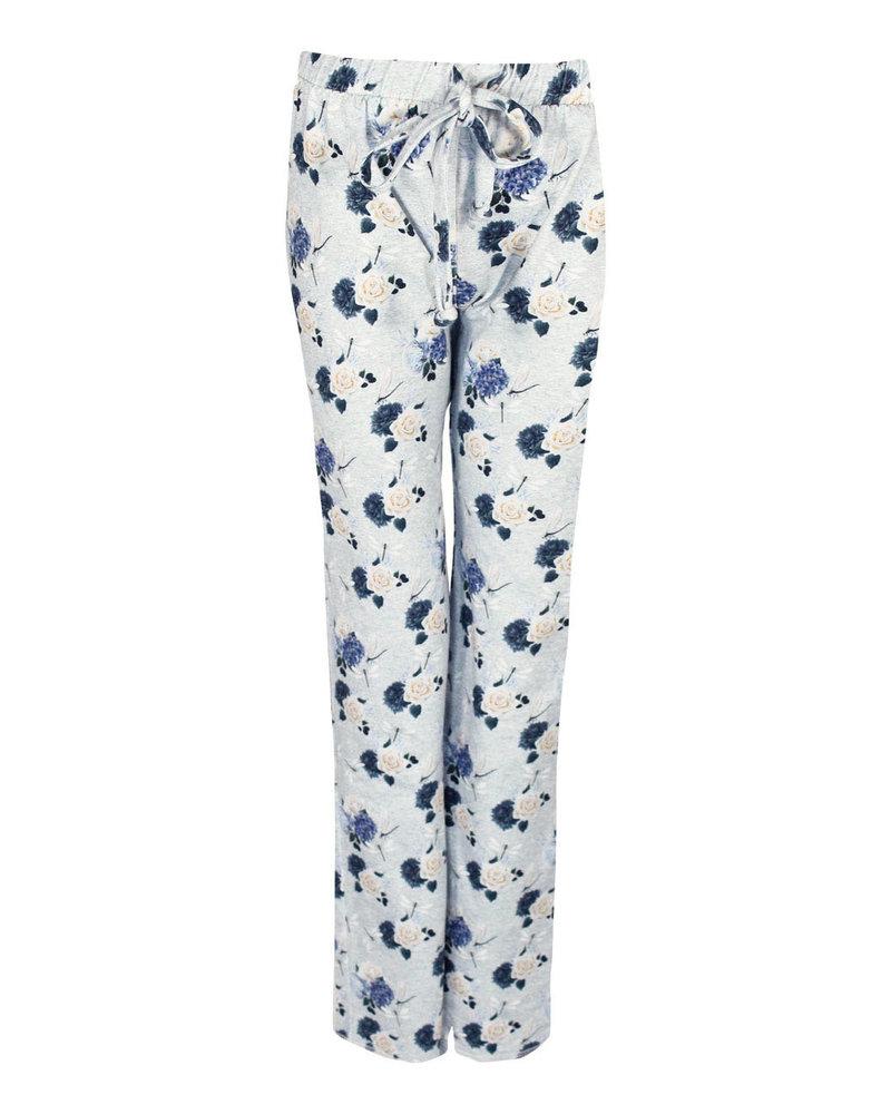 Longlady Pyjamabroek Paulien Lichtblauw Bloem