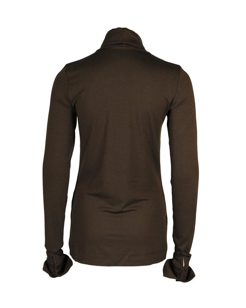 Chiarico Shirt Cuff Donkerbruin