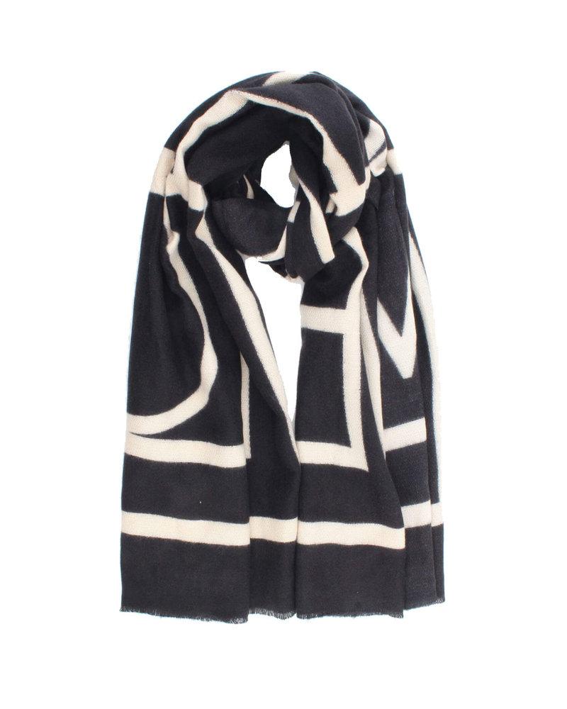 Sjaal Zwart Creme