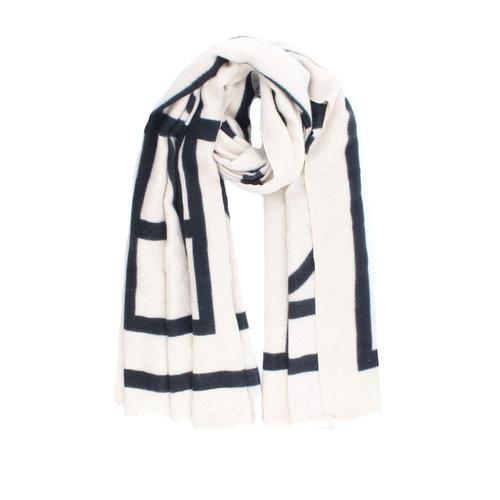 Sjaal Creme Zwart