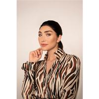 Chiarico Blouse Liv Zebra brown