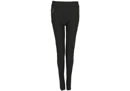 Only-M Only-M Broek Sporty Zip Strong Nero