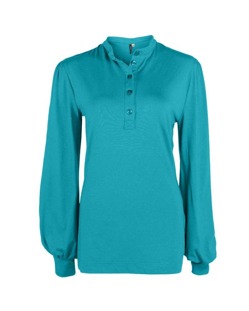Longlady Shirt Tinia Turqoise