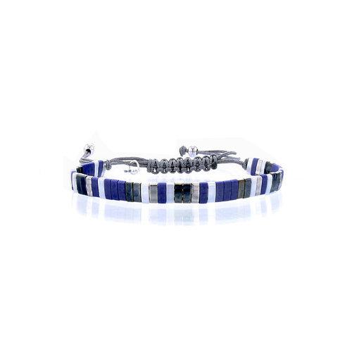 Lovely Bracelets Armbandje Tila Kyoto lapis silver