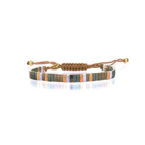 Lovely Bracelets Armbandje Tila Kyoto smaragd