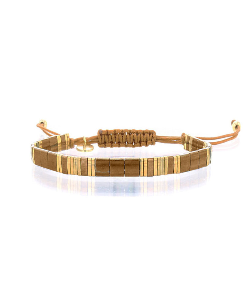 Armbandje Tila Himeji bronziet