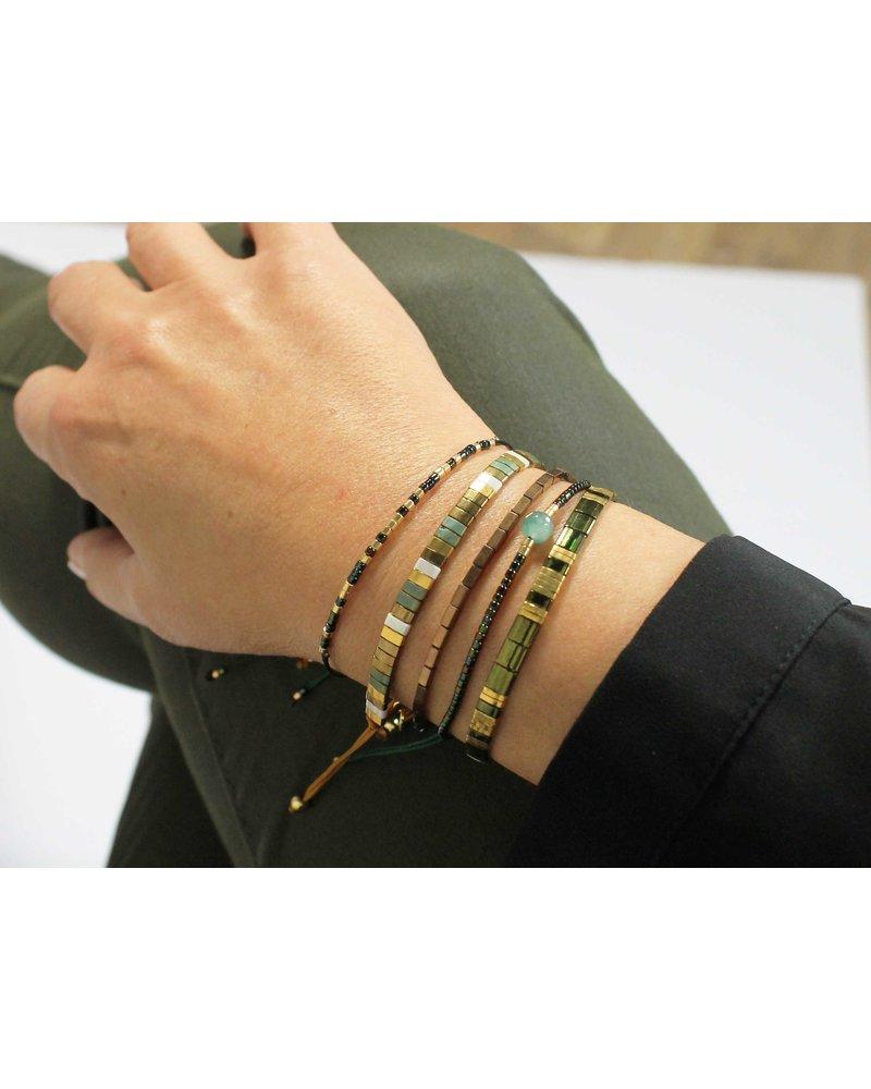 Armbandje Tila Kyoto smaragd