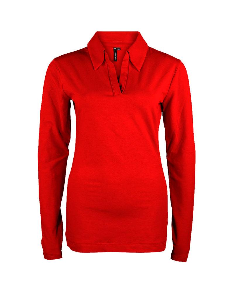 Longlady Shirt Trixie Rood
