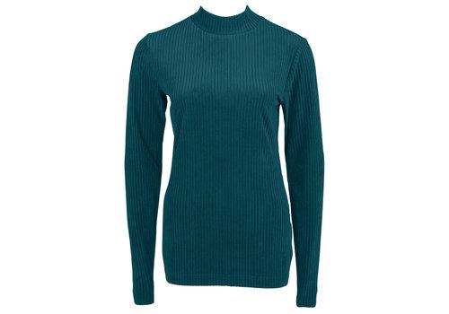 Longlady Longlady Sweater Tammy Cord Petrol
