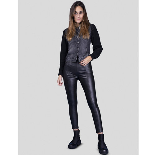Bluefire Bluefire Broek Donna Vegan Leather Zwart