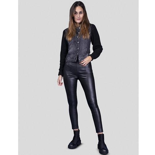 Bluefire Bluefire Trousers Donna Vegan Leather Black