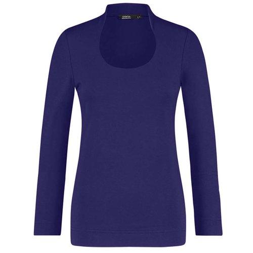 Chiarico Chiarico Shirt Angeline Paarsblauw
