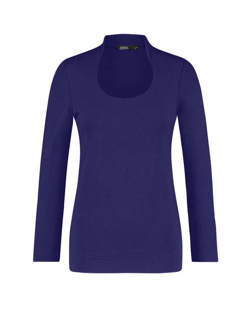 Chiarico Shirt Angeline Paarsblauw