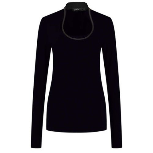 Chiarico Chiarico Shirt Angeline Zwart Leather
