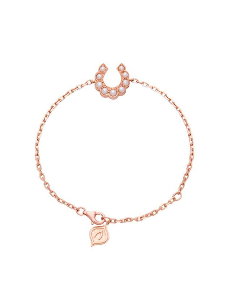 Luck At First Sight Bracelet Rose Gold With Pearls