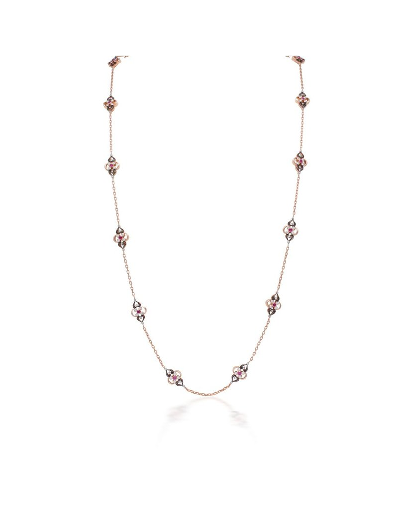 Artalana Secret Garden Long Chain With Rubies