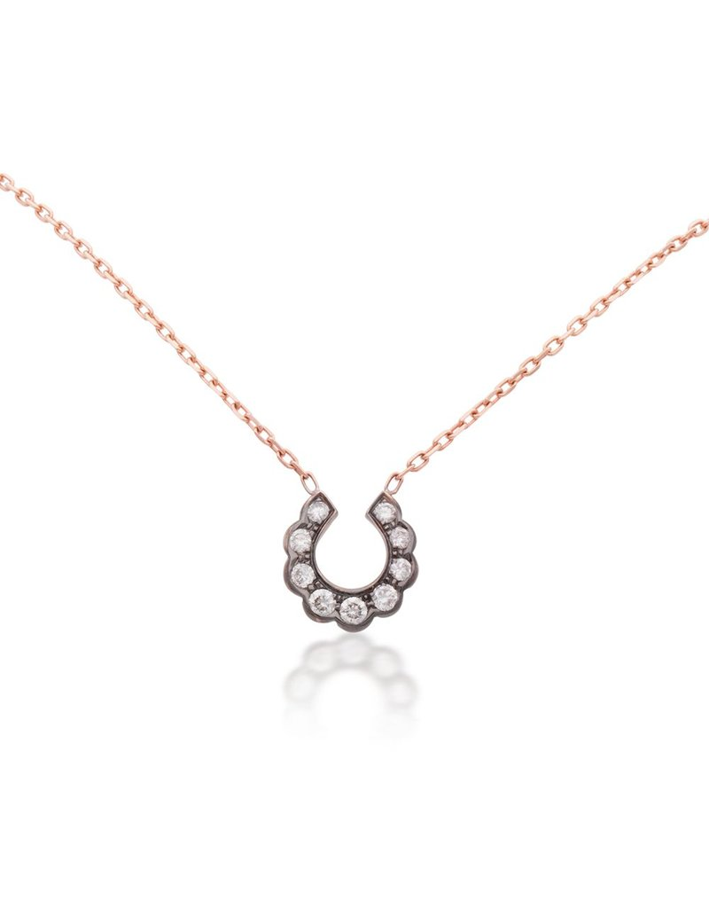 Luck At First Sight Diamond Horseshoe Pendant