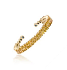 Shanhan Chevron Bangle in Narcissus