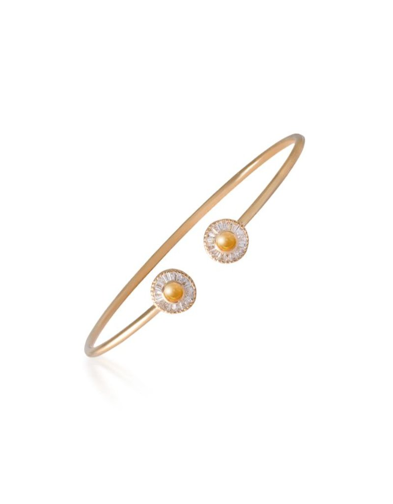 Shanhan Moon Joyful Bangle Yellow Gold in Narcissus