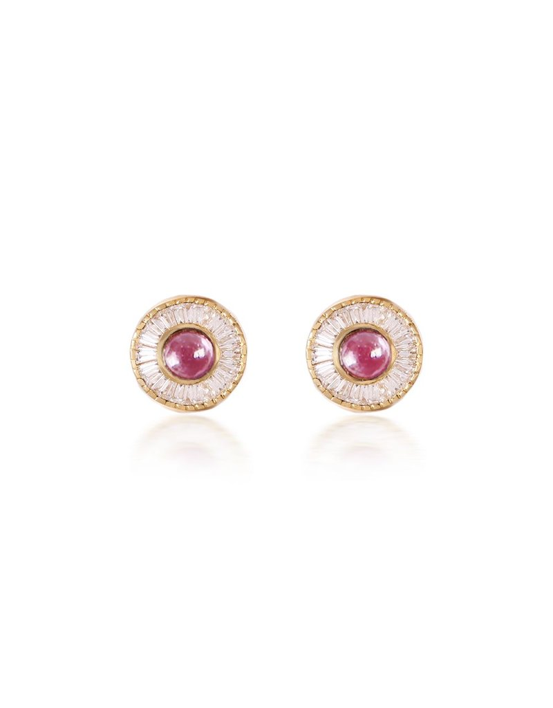 Shanhan Moon Single Motif Earrings In Cherry Blossom
