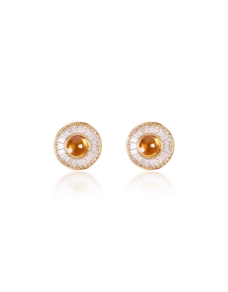 Shanhan Moon Single Motif Earrings In Narcissus