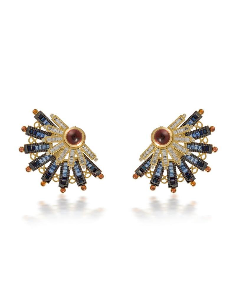 Shanhan 5-Way Earrings Peacock