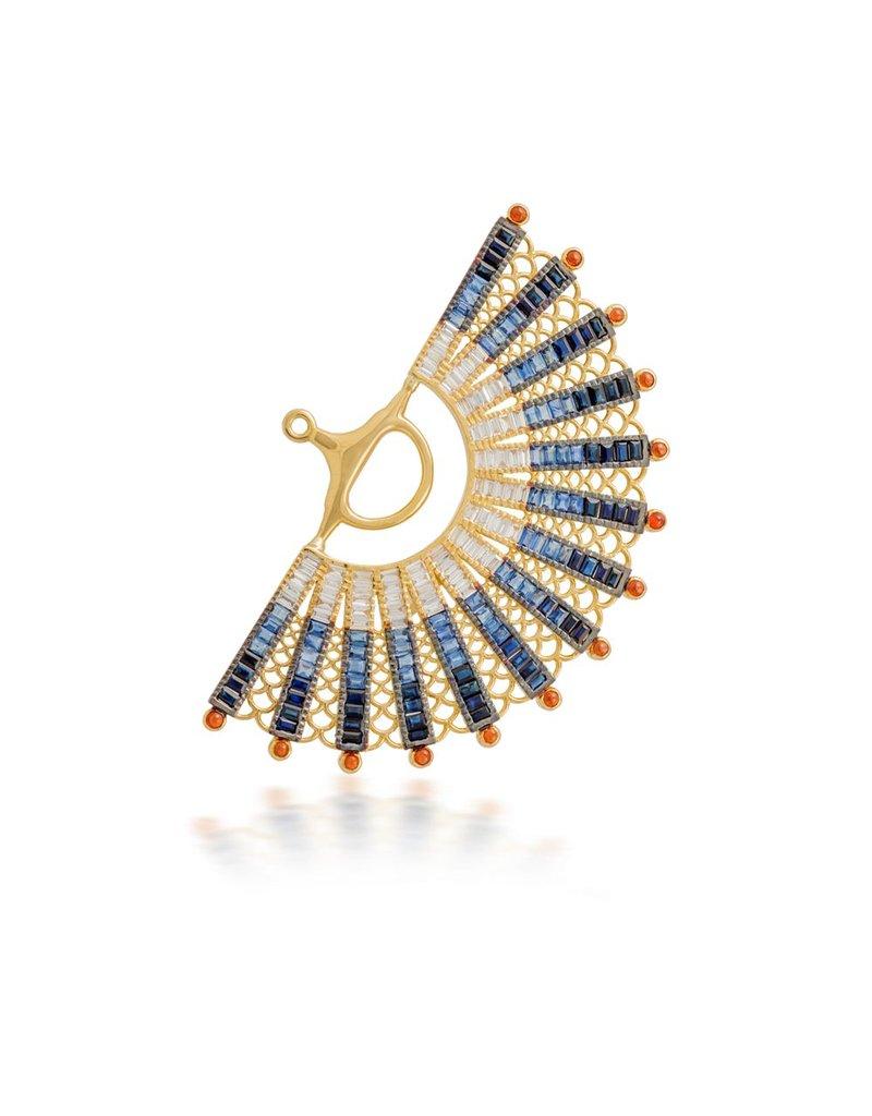 Shanhan Reining Fan  Ear Cuff Peacock