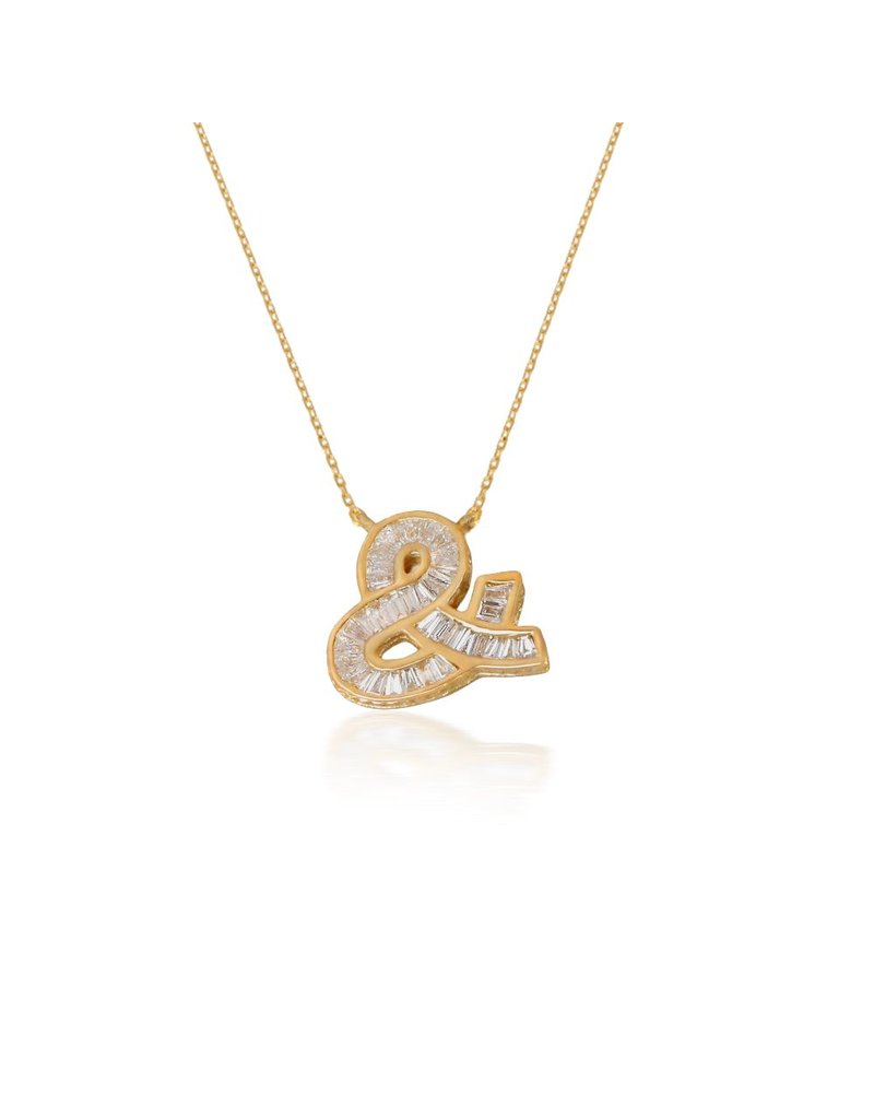 Spell My Love Pendant -& Shape Yellow Gold