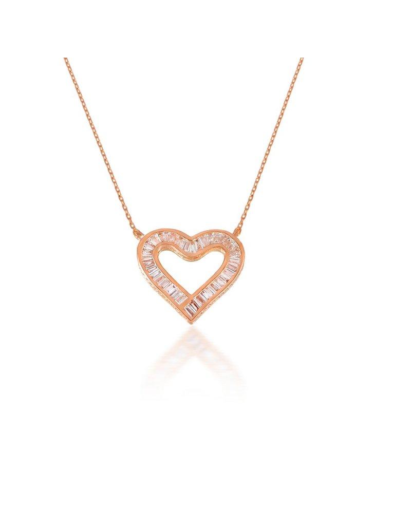 Spell My Love Pendant Heart Shape Rose gold