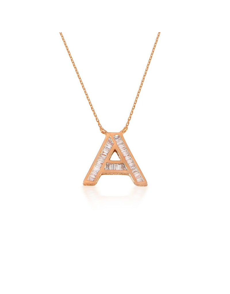 Spell My Love Pendant Letter A Rose Gold