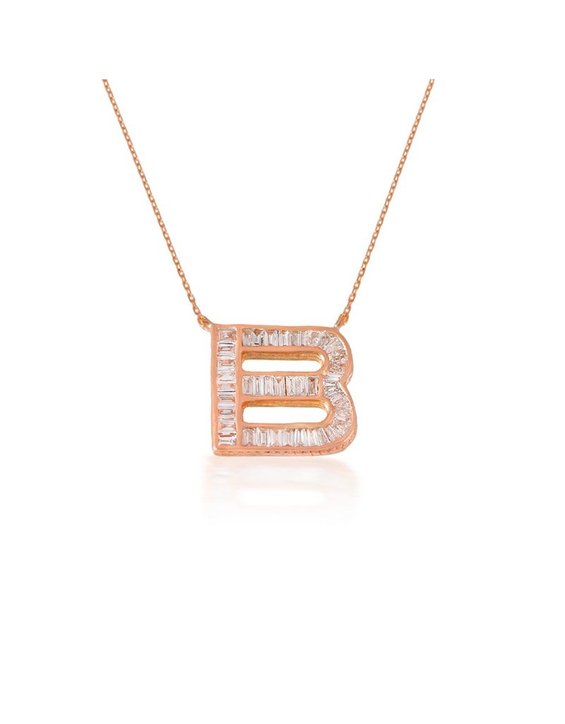 Spell My Love Pendant Letter B Rose Gold