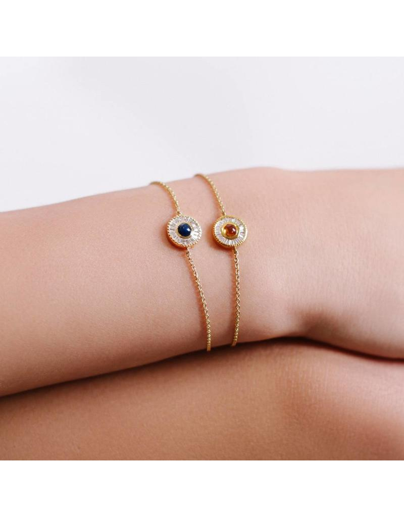 Shanhan Moon Single Motif Bracelet in Peacock