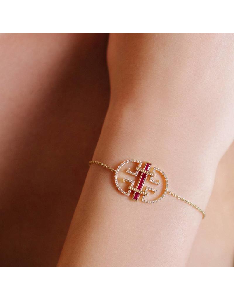 Shanhan Temple Bracelet In Red Lantern