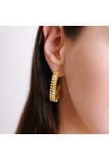 Shanhan Chevron Earrings in Narcisuss