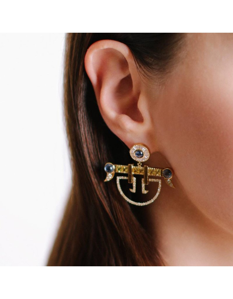Shanhan String Dancer Earrings Narcissus