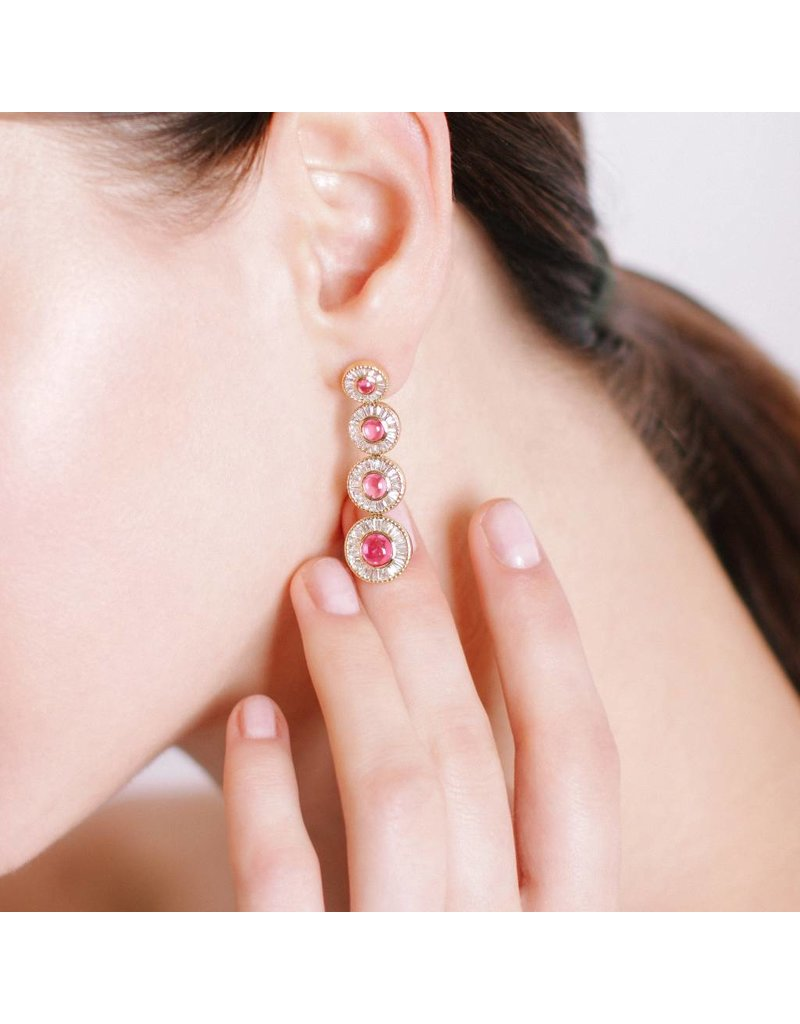 Shanhan Moon Earrings in Cherry Blossom