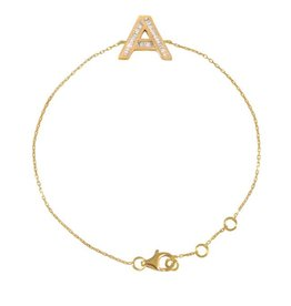Spell My Love Bracelet Letter A Yellow Gold