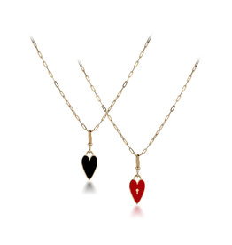 Calliope Love Lock Charm Red & Black