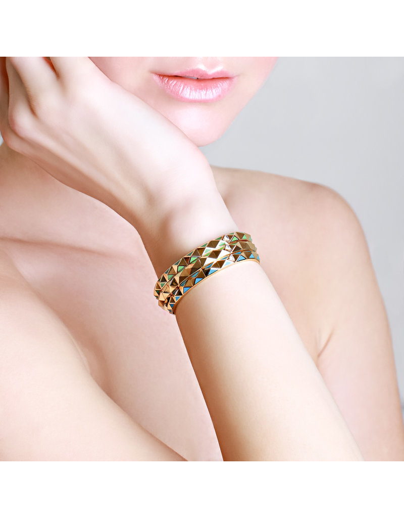 Calliope Carnival Bangle Yellow Gold in Tosca