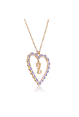 Calliope Alphabet Heart Necklace Letter Z in Lilac